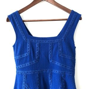 Maeve Blue Emma fit and flare dress